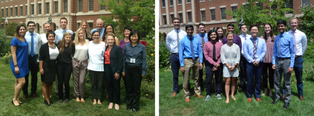 Group photos of Summer Interns