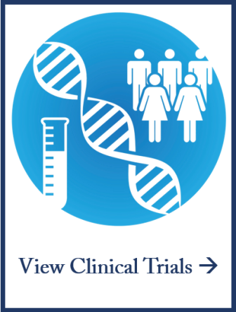 Clinical Trials Icon. This image includes a link to view clinical trials